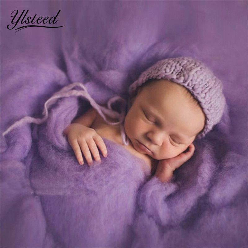 20 Colors 60*60cm Fluffy Wool Fleece Newborn Blanket Basket Filler Stuffer Newborn Photography Props Super Soft Infant Blankets