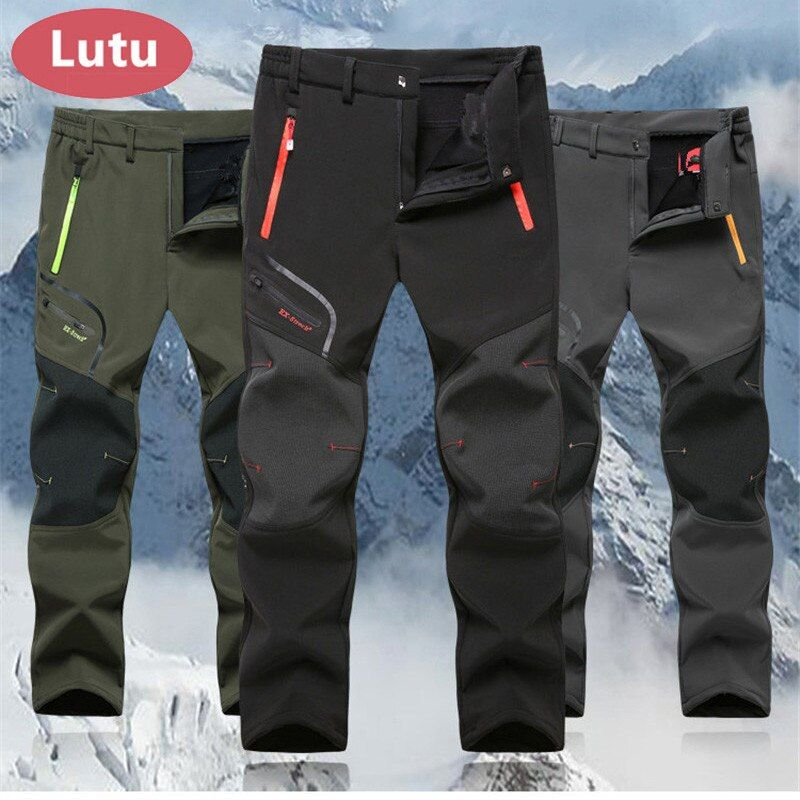 LUTU Hiver Polaire randonnée pantalon hommes Automne Softshell pantalon pantalon en plein air femmes imperméable thremal montagne trekking ski pantalon