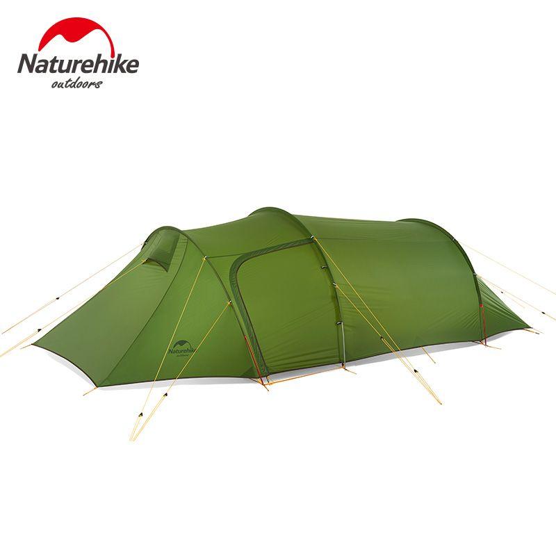 Naturehike 2018 Neue ultraleicht Opalus Tunnel Zelt outdoor familie camping wandern 3 Personen große zelt