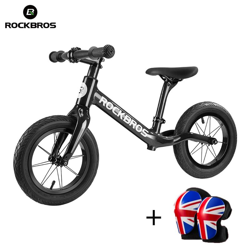 ROCKBROS 12'' Carbon Fiber Slide Bike Child Balance Bikes Light Corrosion Resistant Kids Cycling Bike For 2-6 Years Old Children