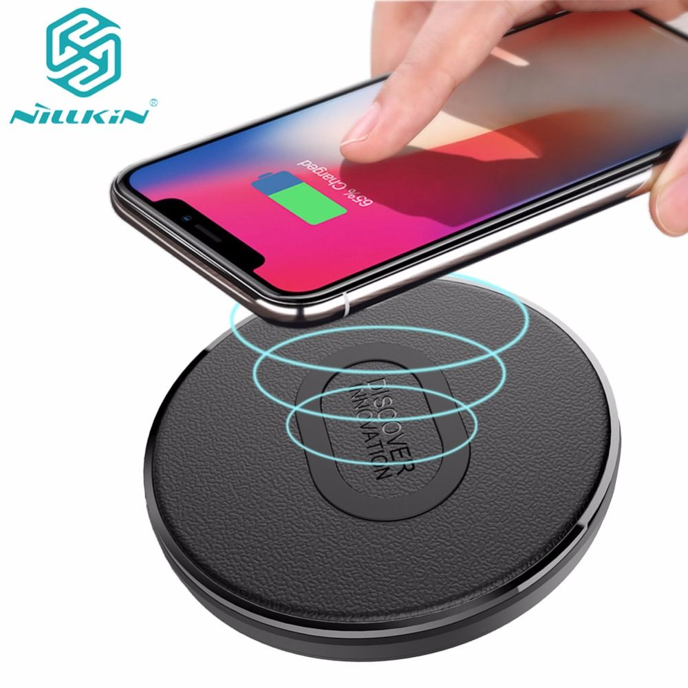 Nillkin 10W Qi Wireless Charger for Samsung Note 8 S9 S8 Plus Nilkin Fast Wireless Charging for iPhone X 8 Plus USB Charging Pad