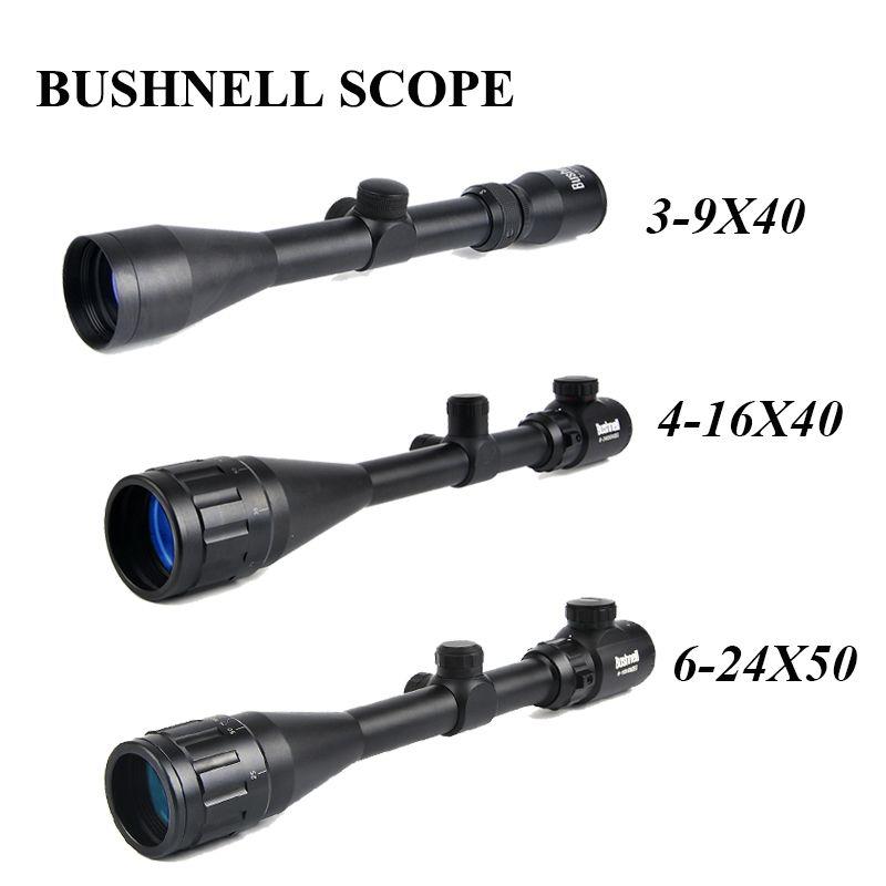 BUSHNELL 3-9x40 Hunting Scopes 4-16x40 Optics Rifle Scopes 6-24x50 Tactical Riflescope Sniper Scope Airsoft Air Guns