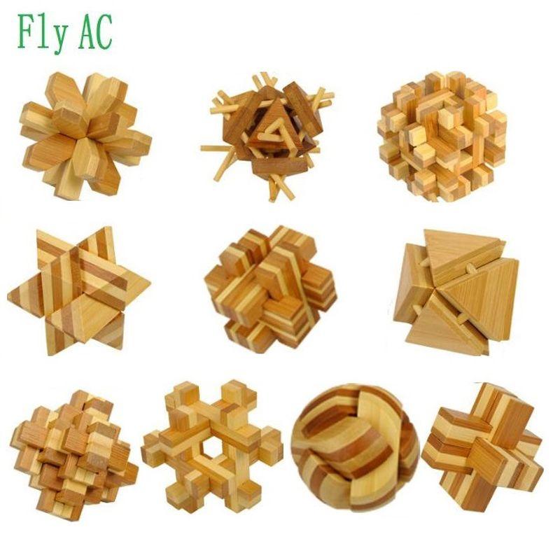 Jouets éducatifs pour adultes 3D jouets de démontage et de déverrouillage Kong Ming lock Luban lock enfants jouets intellectuels cadeau 10 pièces/ensemble