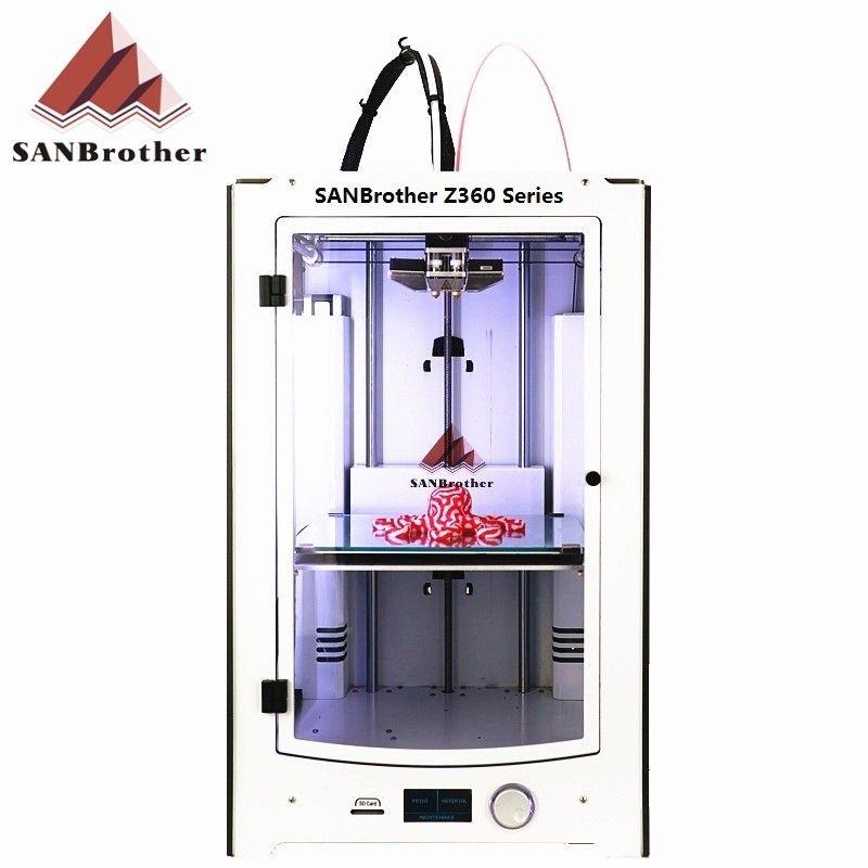 3D Drucker 2018 Neueste SANJIUPrinter Z360 Dual Extruder 3D Drucker DIY KIT Mehr Höher Als Ultimaker 2 Extended + Top qualität