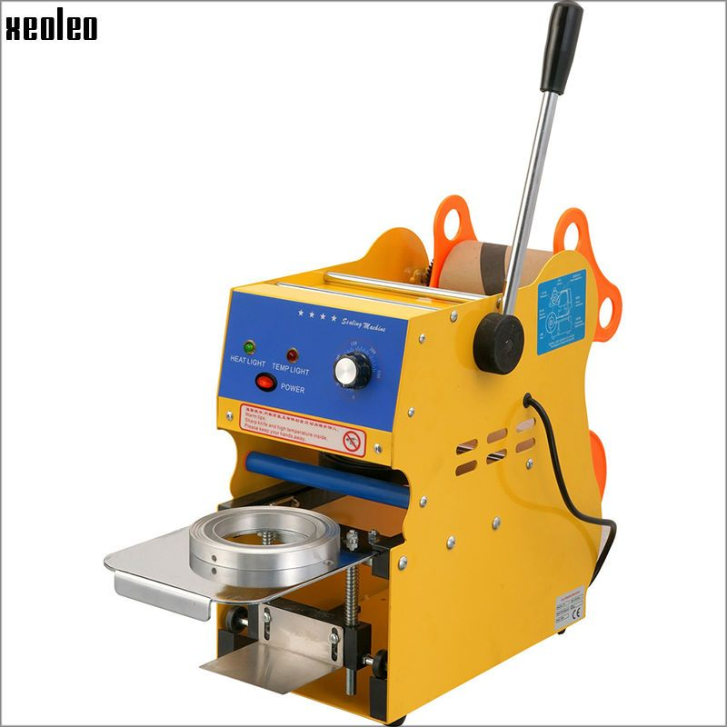 Xeoleo Cup sealing Machine Manual Cup sealer 9/9.5cm cup Manual Bubble tea machine Coffee/Soy milk cup EU/UK/AU/US 220V/110V