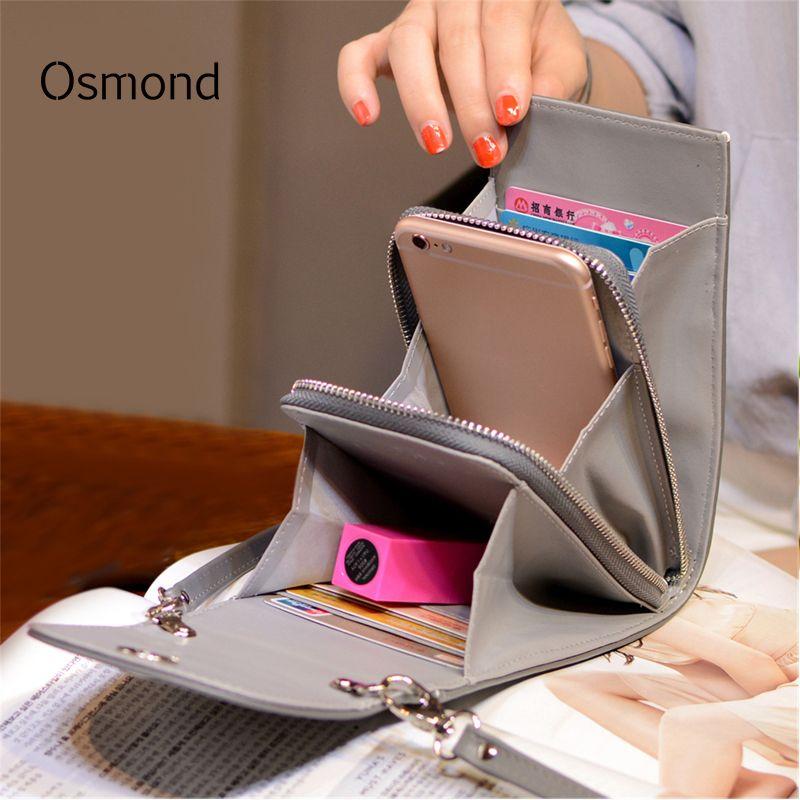 Osmond Women Handbags Korean Mini Bag Cell Phone Bags Simple Small Crossbody Bags Casual Ladies Flap Shoulder Bag сумка женская