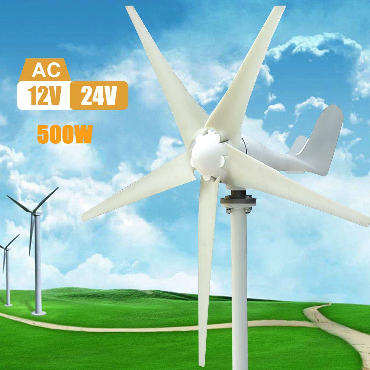500 watt Max 600 watt Wind Turbine Generator AC 12 v/24 v 5 Klinge Netzteil für Home hybrid straßenbeleuchtung verwenden