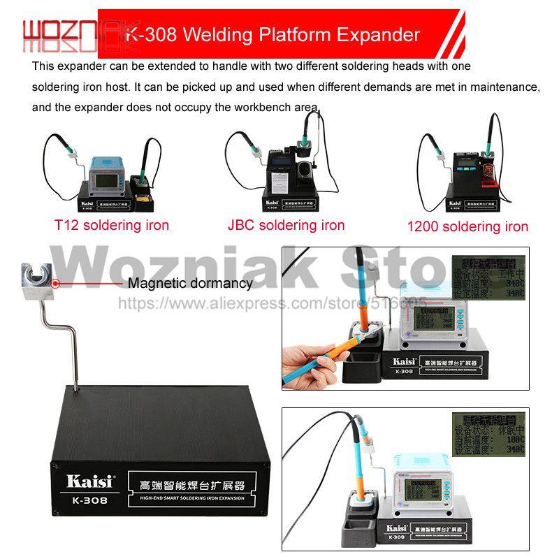 KAISI K-308 Intelligent Erweiterte Werkbank Für JBC UD1200 T12 Elektrische eisen Dual Arbeit Allgemeine Wartung Box