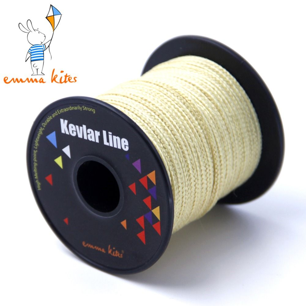 Ligne de Kevlar tressée 750lb grande ligne de cerf-volant volant ligne de corde de Kevlar corde extérieure 100ft/30 m pour la pêche randonnée