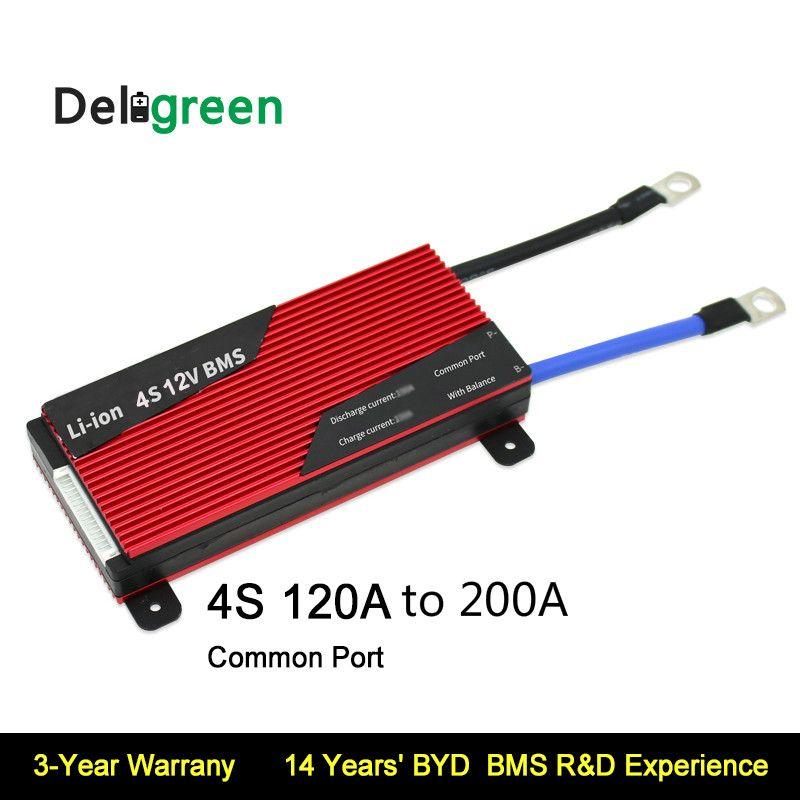 Deligreen 4 S 120A 150A 200A 12 V PCM/PCB/BMS für 3,2 V LiFePO4 3,7 V LiNCM batterie pack LI Ionen Akku schutz bord