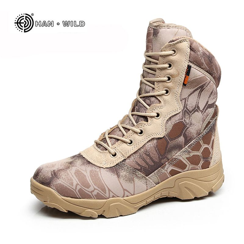 Men Military <font><b>Tactical</b></font> Boots Autumn Winter Waterproof Leather Army Boots Desert Safty Work Shoes Combat Ankle Boots
