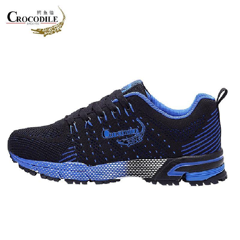Crocodile Original Men Running Shoes Breathable Jogging Shoes Men's Chaussures Homme Stable Shoes Men's Mesh Athletic Sneakers