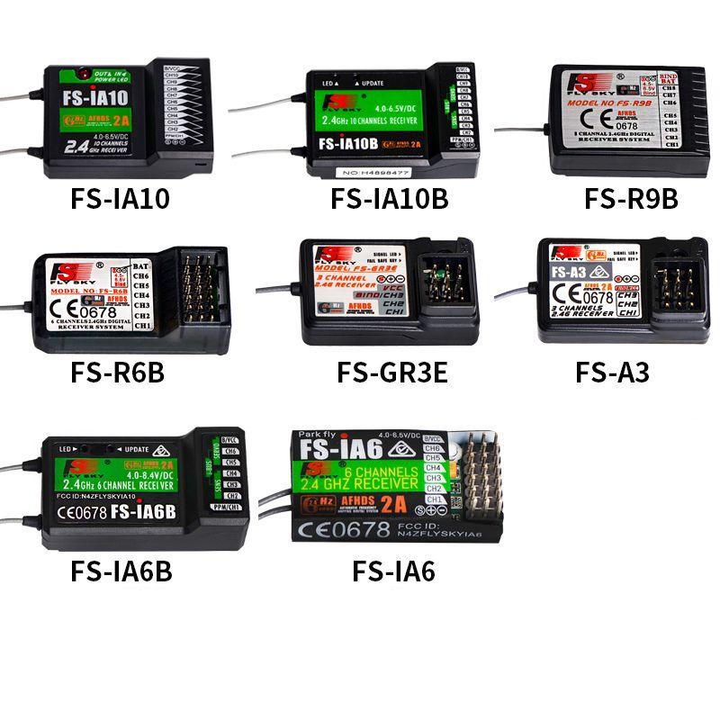 1PC 2.4G Flysky FS-iA6 iA6B iA10B Remote Control Receiver 10CH 8CH 6CH 3CH GT3B R6B R9B A3 Receiver Module for RC Multi-copter