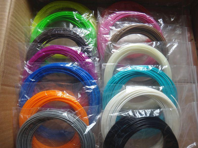 22 couleur ou 20 couleur ou 10 couleur/ensemble 3D Filament de stylo ABS/PLA 1.75mm matériau d'impression en caoutchouc plastique pour Filament de stylo imprimante 3D