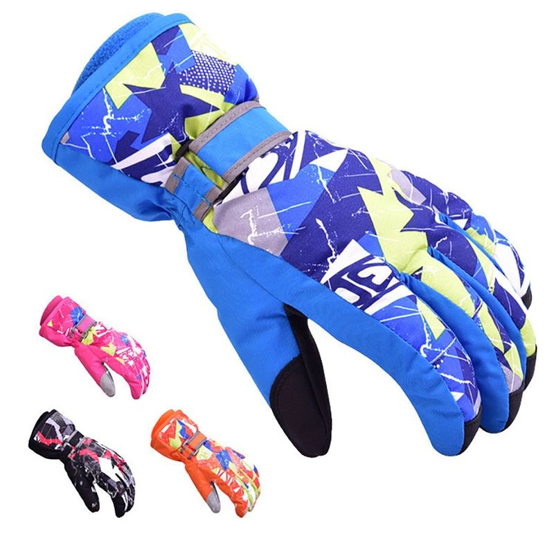 Boys / Girls Ski Gloves Waterproof Thermal Winter Ski Gloves Snowboard Snowmobile Motorcycle Cycling Outdoor Sports Gloves