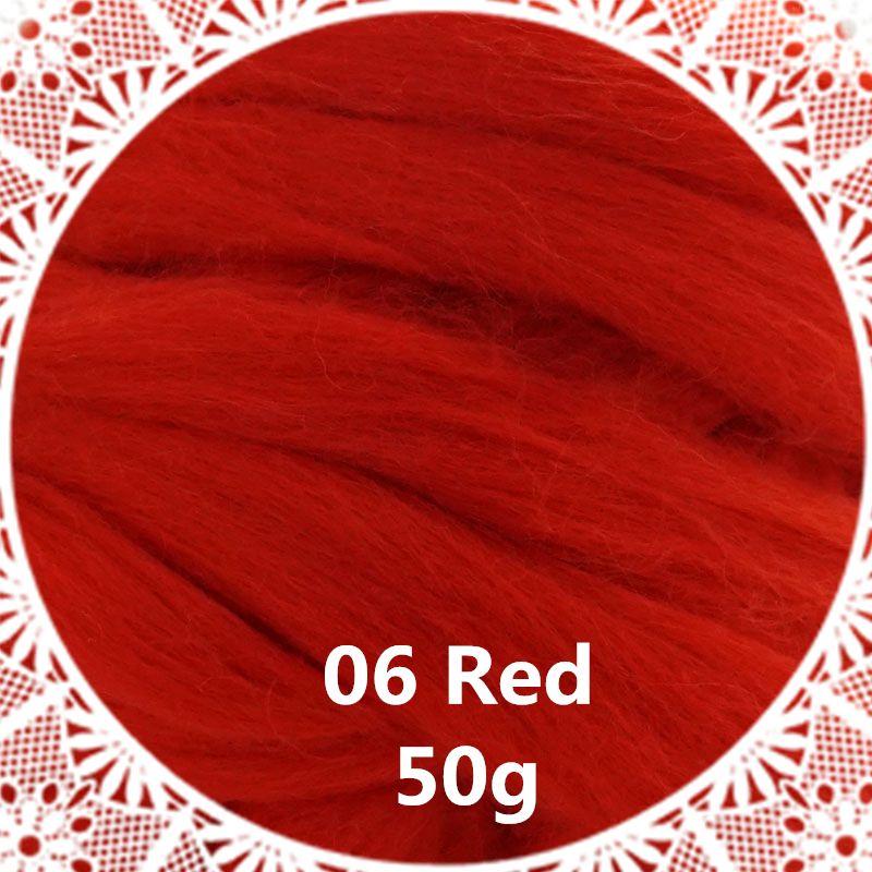 Livraison gratuite main Feutre De Laine pour le feutrage 50g Rouge Parfait en Feutre Aiguilleté 28 #