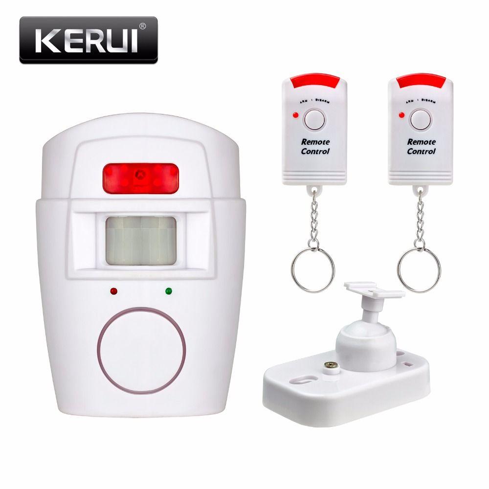 Sécurité domestique PIR MP alerte capteur infrarouge Anti-vol détecteur de mouvement alarme moniteur système d'alarme sans fil + 2 télécommande