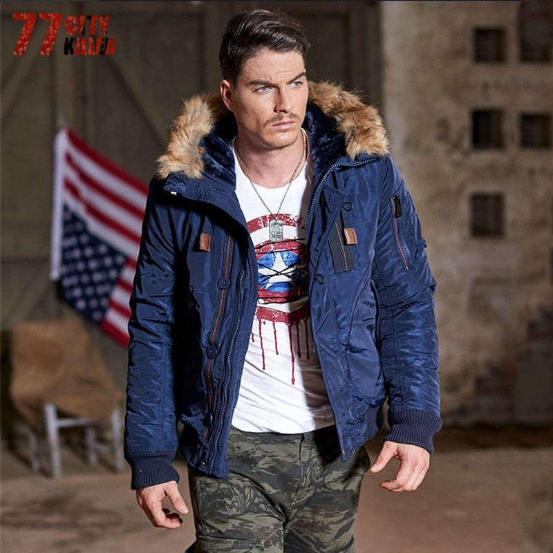 77City Killer 3XL Men Winter Casual New Hooded Thick Padded Jacket Zipper Slim Outwear Warm Brand Clothing Top Quality P914