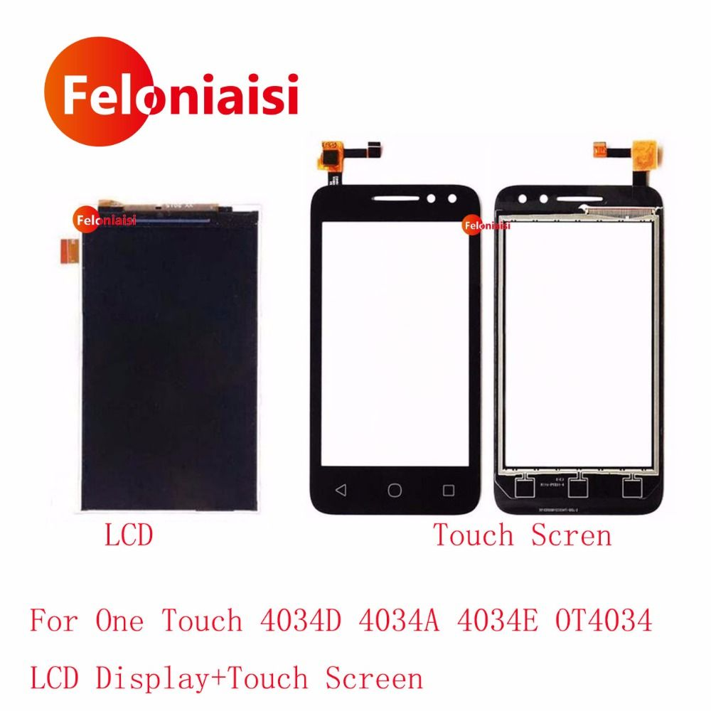 High Quality 4.0'' For Alcatel One Touch 4034D 4034A 4034E OT4034 LCD Display With Touch Screen Digitizer Sensor Panel