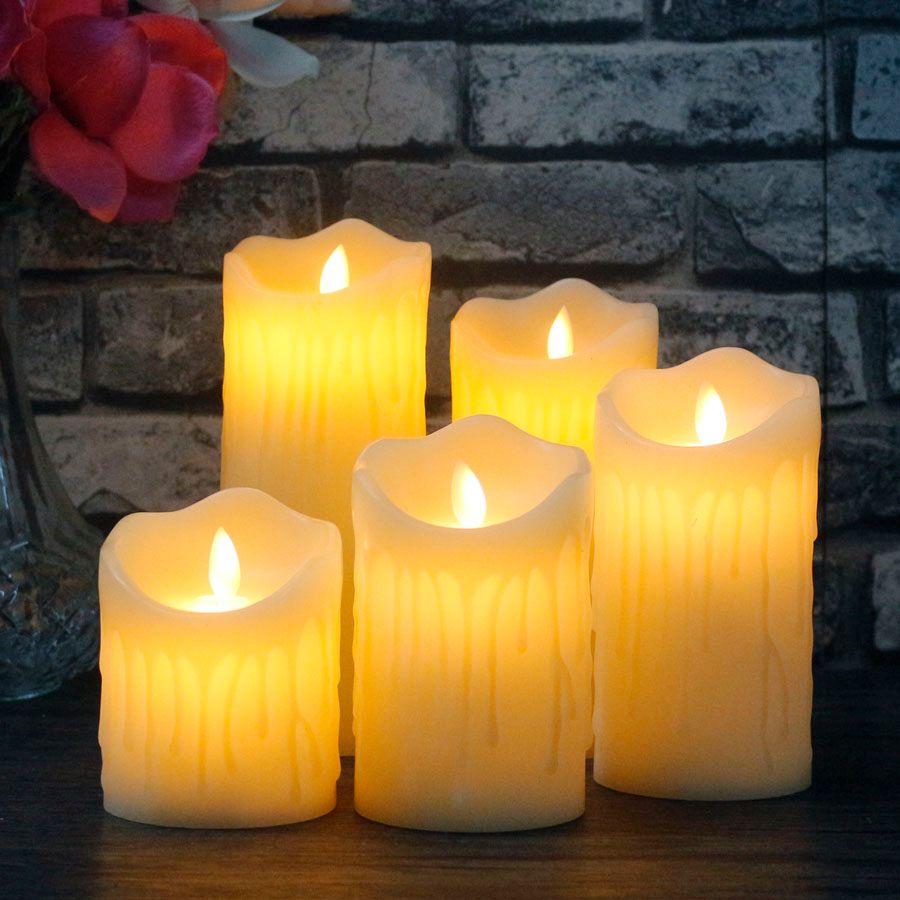 1 PC télécommande LED électronique sans flamme bougies lumières Simulation flamme clignotant bougies LED saint valentin fête décoration