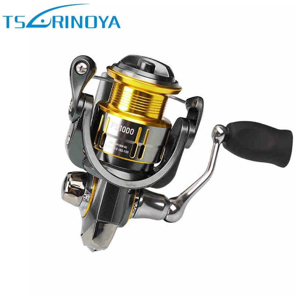 TSURINOYA FS800 FS1000 Spinning Reels Metal Spool Lure Reel 9+1BB 5.2:1 Rock Fishing Wheel Molinete Peche Para Pesca Carp Coil