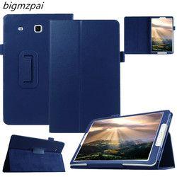 Модная высококачественная искусственная кожа кожаный чехол для Samsung Galaxy Tab E 9,6 T560 T561 планшетный чехол защитный чехол + Защитная пленка на экр...