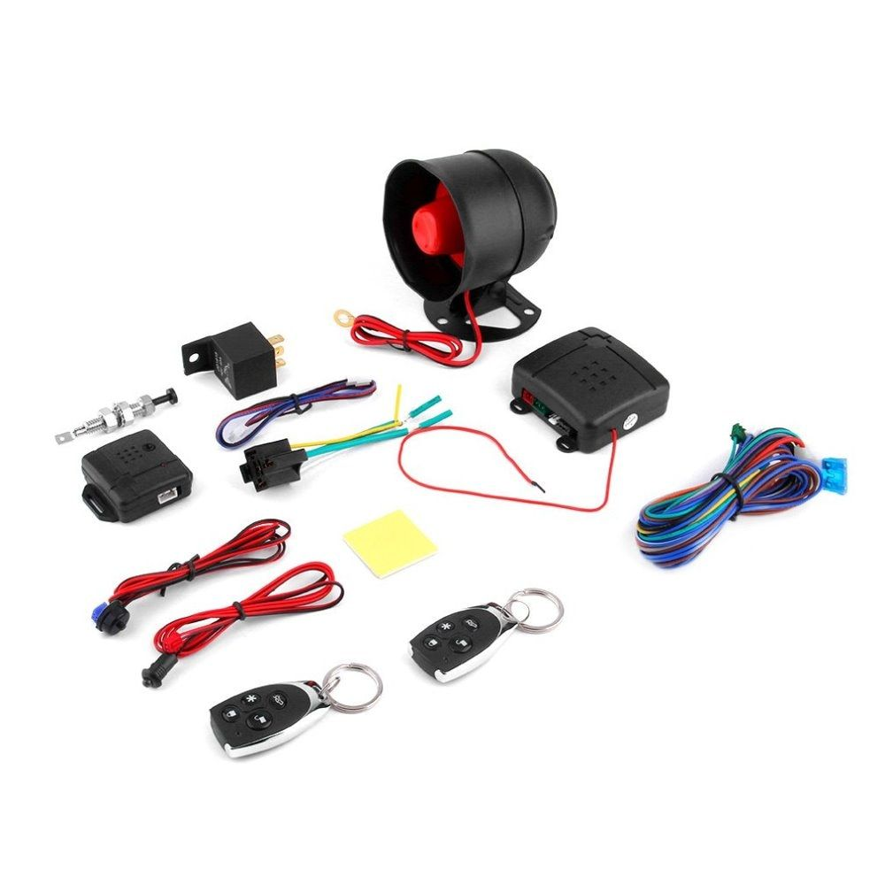 Universal 1-Way Car Alarm Vehicle Protection Security System Keyless Entry Siren+2 Remote Control Burglar car-styling acessories