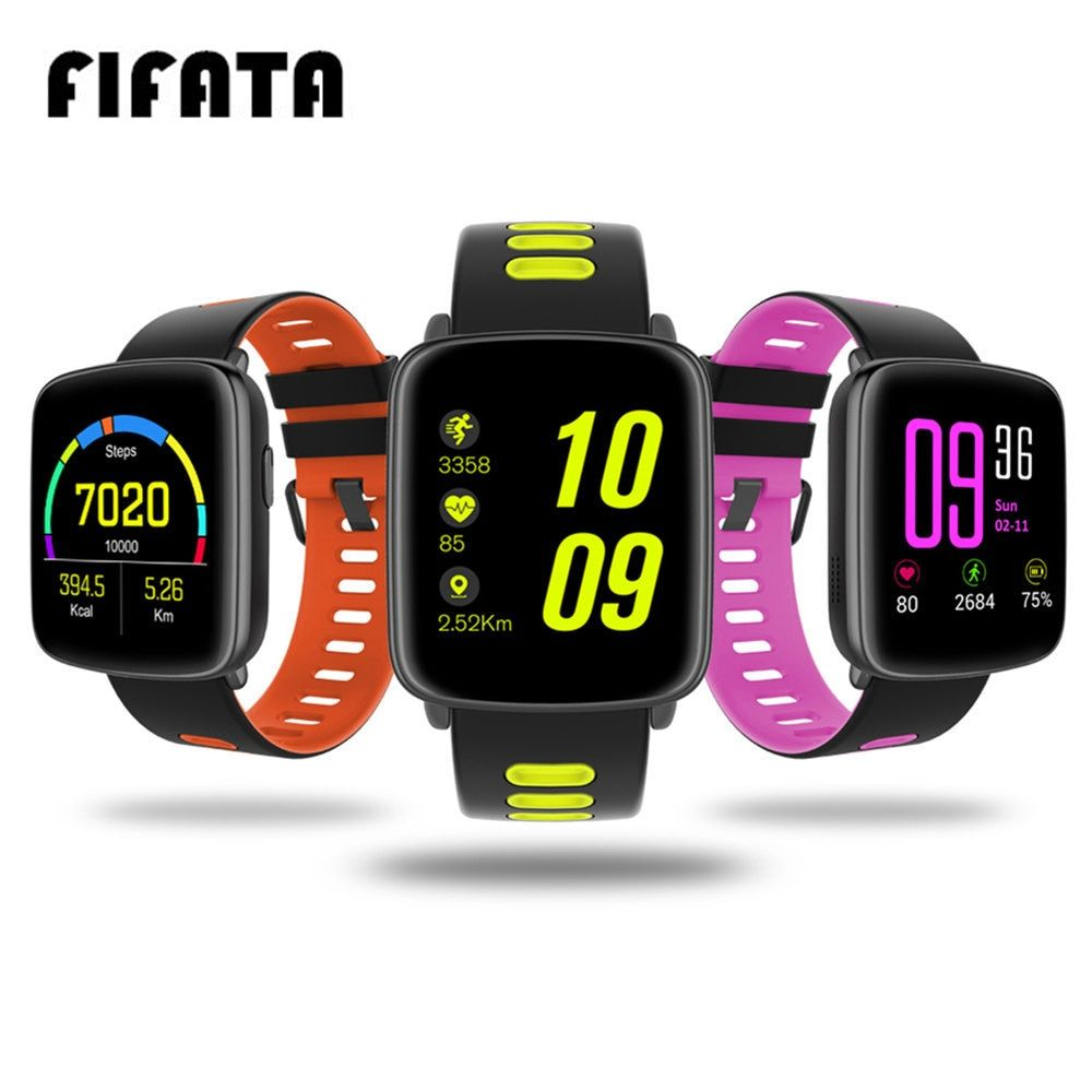FIFATA GV68 Smart Watch IP68 Waterproof MTK2502 Bluetooth Connectivity Wearable <font><b>device</b></font> Heart Rate for Android IOS Smartwatch