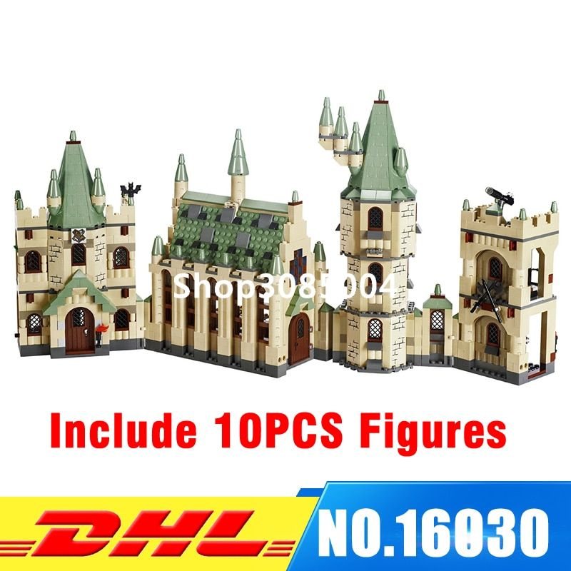 DHL LEPIN 16030 1340pcs Hogwarts Castle School Building Blocks Kit Set Building Blocks Bricks Toys Fit For 4842