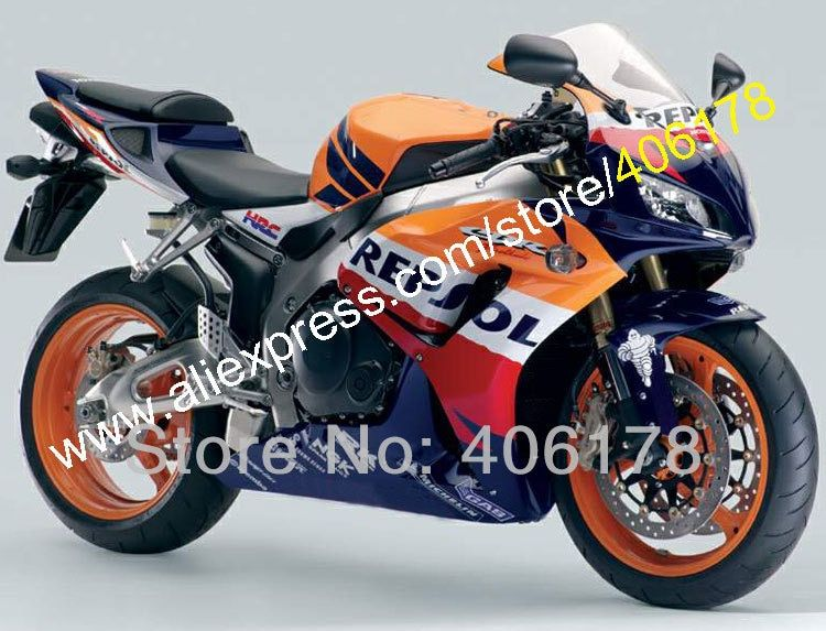 Hot Sales,For Honda CBR1000RR 2006 2007 Repsol CBR1000 RR CBR 1000 RR 06 07 Body ABS Motorcycle Fairing Set (Injection molding)