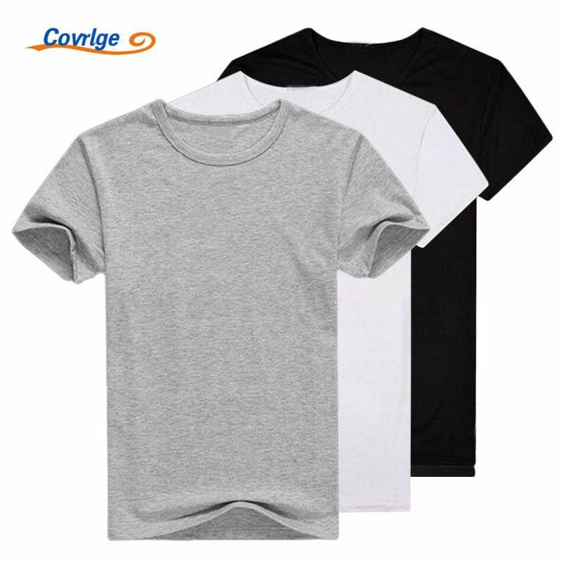 Covrlge 3 шт./лот футболка 2 шт./лот Для мужчин Мода 2017 г. футболка с круглым вырезом Для мужчин повседневная футболка короткий рукав одноцветное ...
