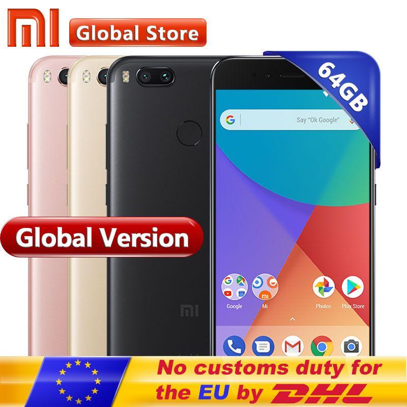 Global Version Xiaomi Mi A1 MiA1 Mobile Phone 4GB 64GB Smartphone napdragon 625 Octa Core 12.0MP+12.0MP Dual Camera Android One