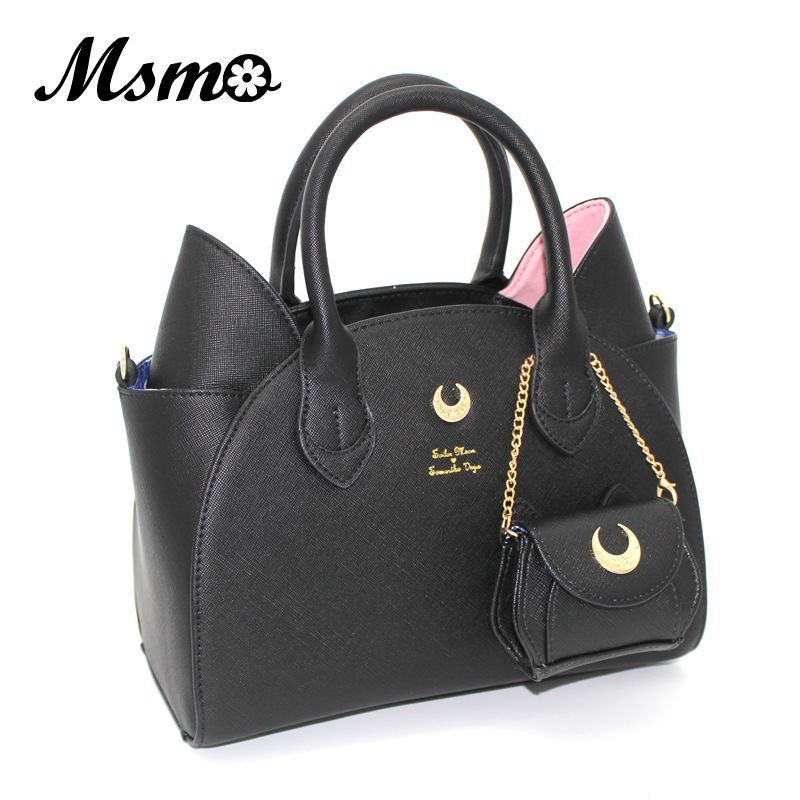 MSMO Sailor <font><b>Moon</b></font> Bag Samantha Vega Luna Women Handbag 20th Anniversary Cat Ear Shoulder bag Hand Bag
