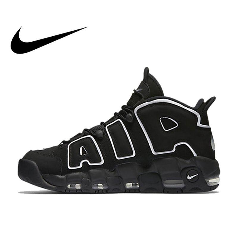 Original Authentischen Nike Max Air Mehr Uptempo männer Atmungs Basketball Schuhe Sport Turnschuhe Außen Medium Geschnitten Schuhe