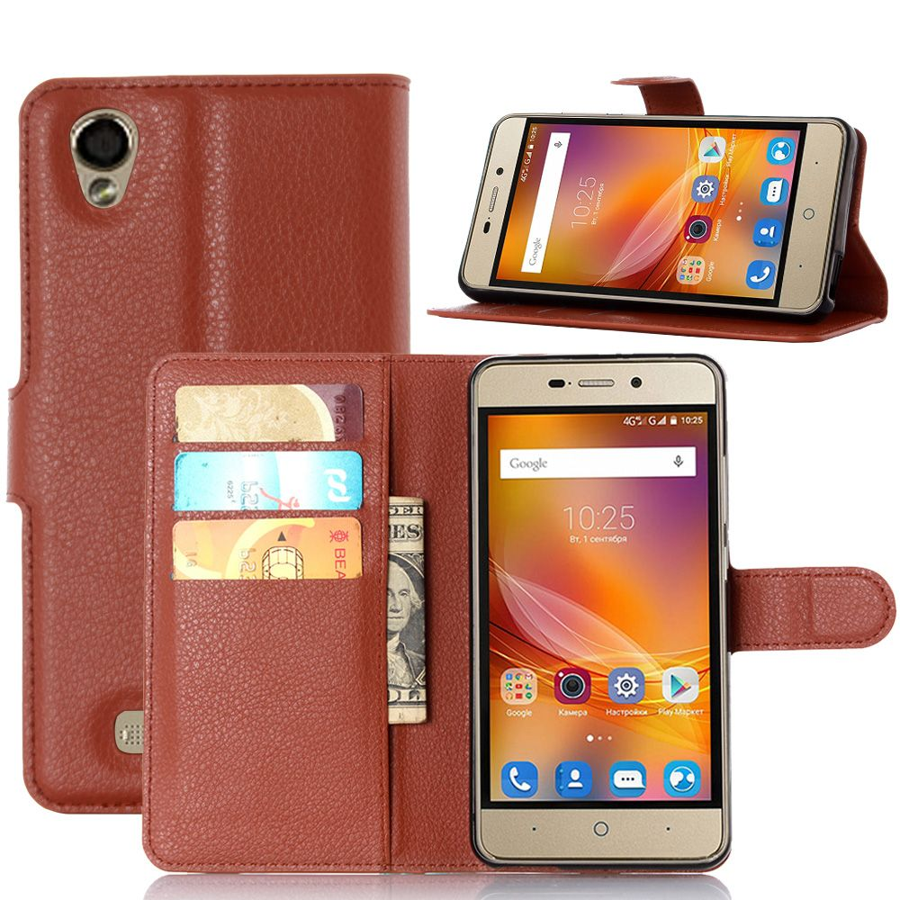 Fashion Wallet PU Leather Case For ZTE Blade X3 / Blade D2 / Blade T620 Magnetic Filp Cover Fundas Mobile Phone Case Holder Stan