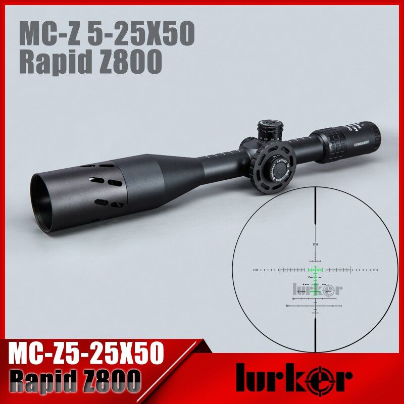 HLURKER Tactical 5-25X50 FFP Rapid Z800 Optics Riflescope Side Parallax Scopes Rifle Scope Mounts For Airsoft