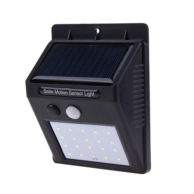 LED Solar Lamp Waterproof IP65 20led Solar Light Powered Garden LED Solar Light Outdoor ABS Wall Lamp Stairs Lights