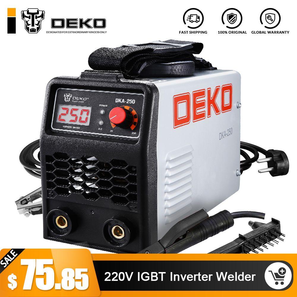 DEKO 220 V 200/250A IGBT Inverter AC Arc Schweißen Maschine MMA Schweißer für Schweiß Arbeiten und Elektrische Arbeits w/Zubehör