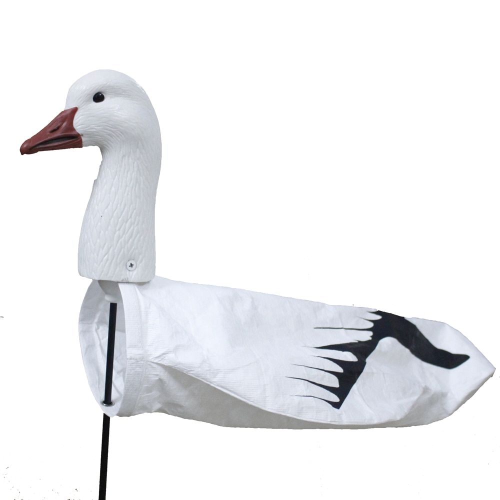 Outdoor Hunting Decoy Tyvek Screen Printing Windsock EVA Plastic Snow Goose Wind Socks Plastic Goose Decoy