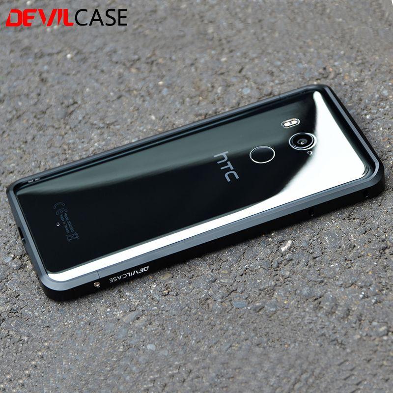 DEVILCASE For HTC U11+ Metal Bumper Frame Ultra Thin Protective Cases CNC Cutout For HTC U11 Plus 6inch