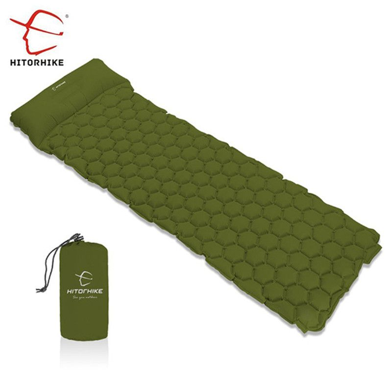 Hitorhike Inflatable Sleeping Pad Camping Mat With Pillow air mattress Cushion Sleeping Bag air sofas inflatable sofaFor Autumn