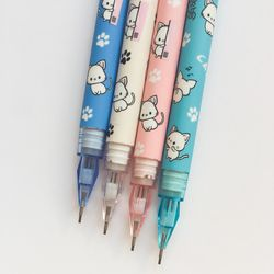 L02 4X Cute Kawaii Lovely Cat & Paw Press Mechanical Pencil Writing School Office Supply Student Stationery Automatic Pencil