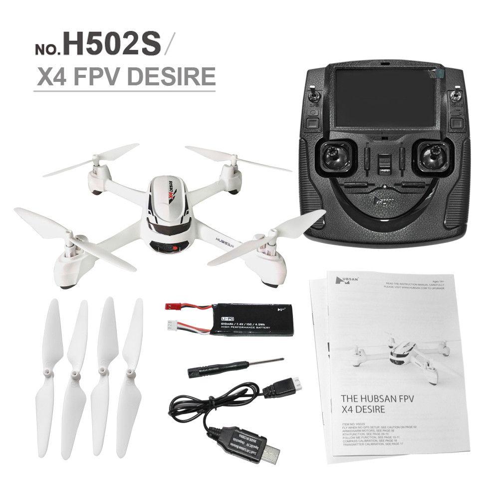 RC Drone Hubsan H502S X4 5.8G FPV Avec 720 P HD Caméra GPS Altitude Un Retour Key Sans Tête Mode RC Quadcopter Auto Positionnement