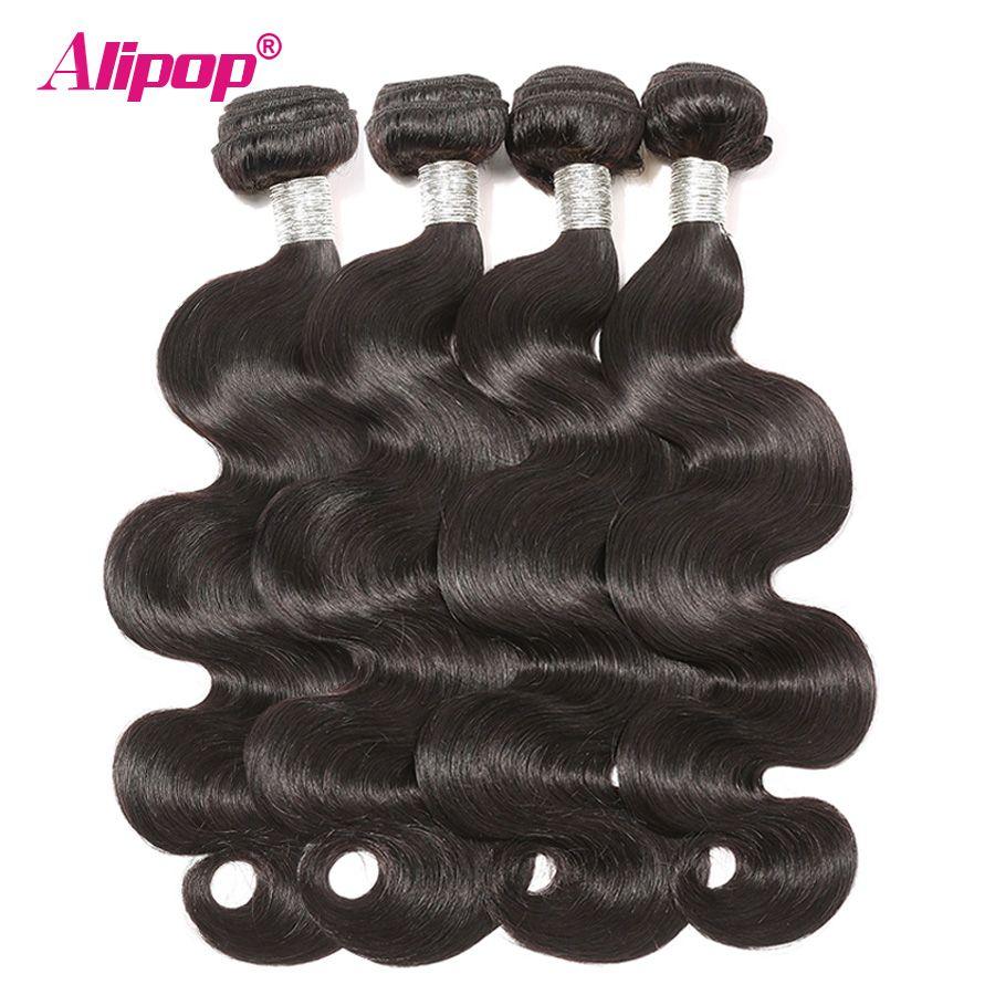 Paquets de vague de corps Remy cheveux péruviens paquets offres 100% cheveux humains paquets 8-28 pouces Extensions de cheveux armure Alipop peut être teint