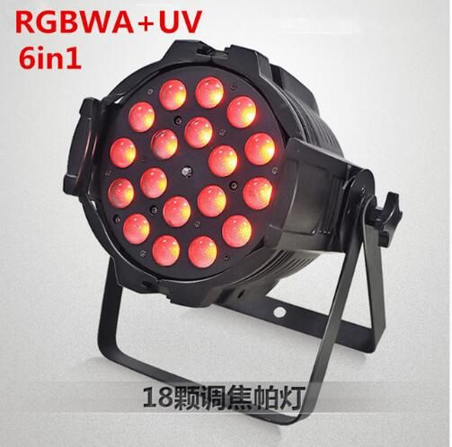 18x18W RGBWA UV 6in1 Led Zoom Par Light led effect light dj dmx lights disco light