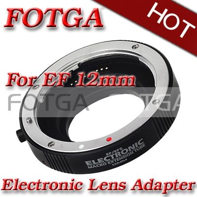 Silver Mount Metal AF Auto Focus Macro Extension Tube Ring For Canon EF EF-S