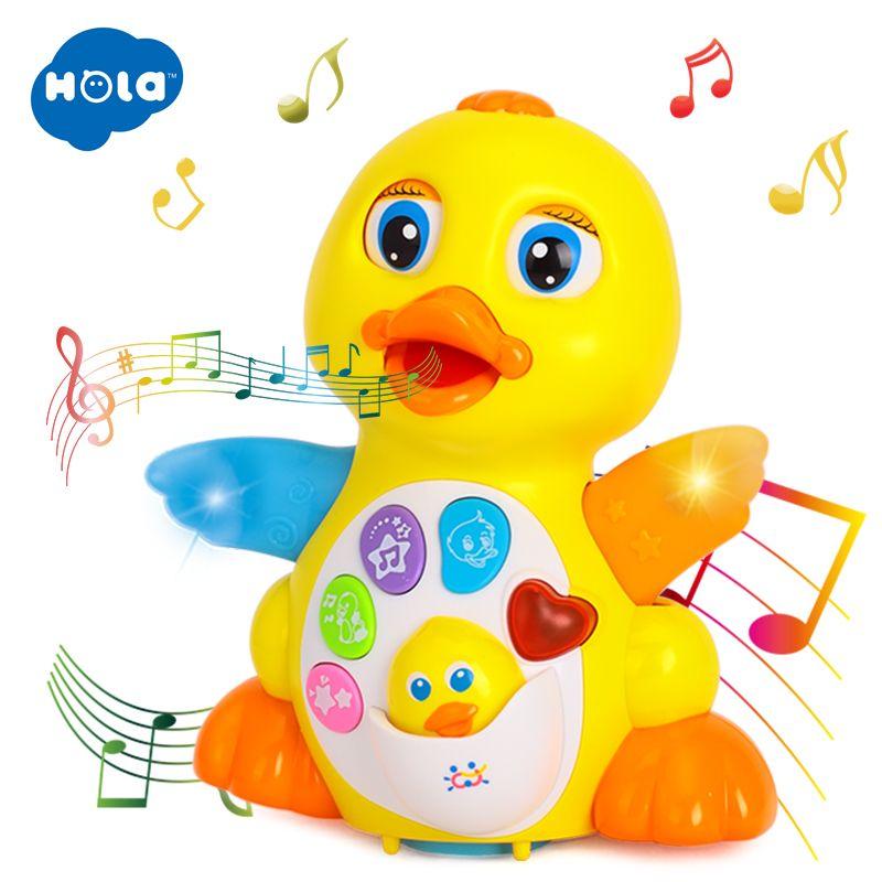 Jouet d'action de Figure de jouet à piles de canard de danse avec des lumières clignotantes jouets musicaux universels électriques de bébé