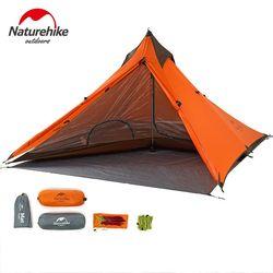 NatureHike 1 Orang Berkemah Tenda 20D Nilon 4 Musim Backpacking Tenda Ultralight Hiking Trekking Tenda untuk Olahraga Luar Ruangan Perjalanan