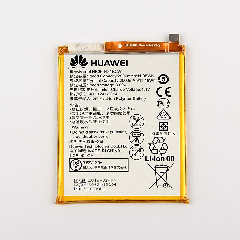 Original Huawei HB366481ECW Rechargeable Li-ion phone battery For Huawei P9 Ascend P9 Lite G9 honor 8 5C G9 2900mAh
