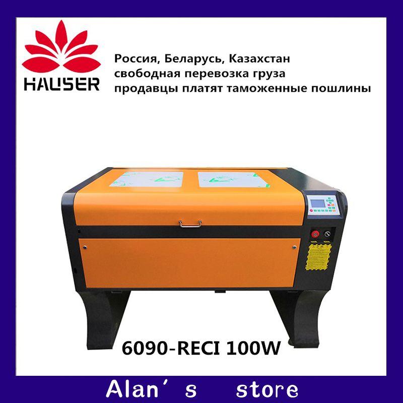 HCZ9060 co2 laser engraver Ruida RECI 100w 6090 laser engraving machine 220v/110v laser cutter machine diy CNC engraving machine